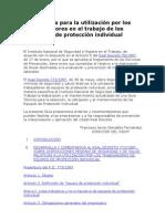 Guía técnica para la utilización por los trabajadores en el trabajo de los equipos de protección individual