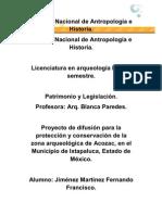 Trabajo Final de Patrimonio y Legislación.