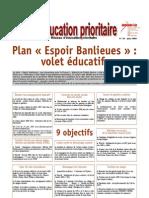 """Plan """"Espoir Banlieues"""""""