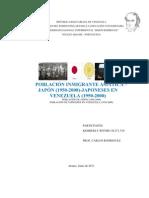 POBLACIÓN INMIGRANTE ASIATICA –JAPÓN (1950-2000)-resumen