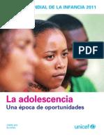 La Adolescencia Epoca de oportunidades UNICEF