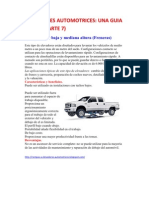 Elevadores Auto Mot Rices, Una Guia Inicial (Parte 7)