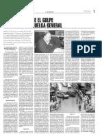 UNA VISIÓN SOBRE EL GOLPE DE ESTADO Y LA HUELGA GENERAL