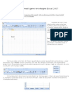 Informatii Generale Despre Excel 2007