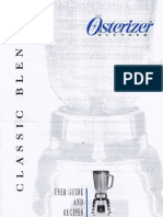 Oster - Beehive Blender - Online Instruction Book