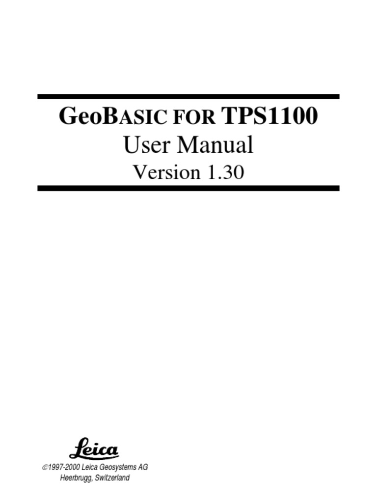 GeoBasic1100 Manual V130 | Parameter (Computer Programming) | Integrated  Development Environment