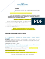 PROCESSO CIVIL - JUSTIÇA GRATUITA