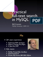 Practical Full Text Search