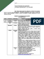 Temarios Evaluaciones 1er Semestre 2011