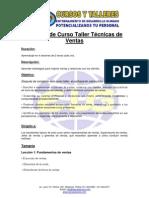 Ficha - Curso Técnicas de Ventas ELG Asesores.