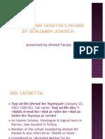 IJTIHAD IN IBN Taymiyya's fatawa