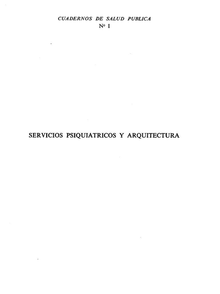 Servicios Psiquiatricos y Arquitectura