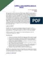 Qué es el APEC y qué significa para el Perú