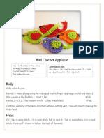Bird Crochet Appliqué