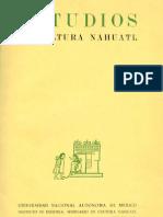 Estudios de Cultura Náhuatl 1