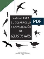 Manual para capacitación de Guías de Aves