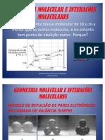 GEOMETRIA MOLECULAR E INTERAÇÕES MOLECULARES