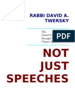 Not Just Speeches -- Volume i