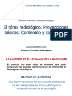 5. El tórax radiológico. Proyecciones básicas. Contenido y continente