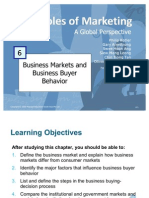 Principles of Marketing - Business Markets & Business Buyer Behavior