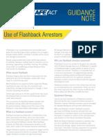WSACT GN 0022 - Use of Flashback Arrestors