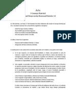Acta I Consejo Distrital