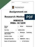 MB0034(Research Methodology)...