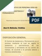 Manual Normativo de Personal:Control de Asistencia y Permanencia