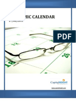 Economic Calendar 27-06-2011 To 01-07-2011