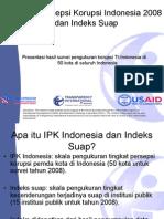 Materi Presentasi Ipk Indonesia 2008 Dan Indeks Suap