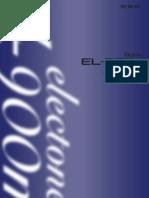 EL-900m Electone Owner's Manual
