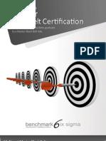 Benchmark Six Sigma Master Black Belt Brochure