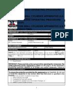 Thin Wall Cylinder SOP