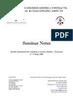Understanding Contracts Seminar Notes