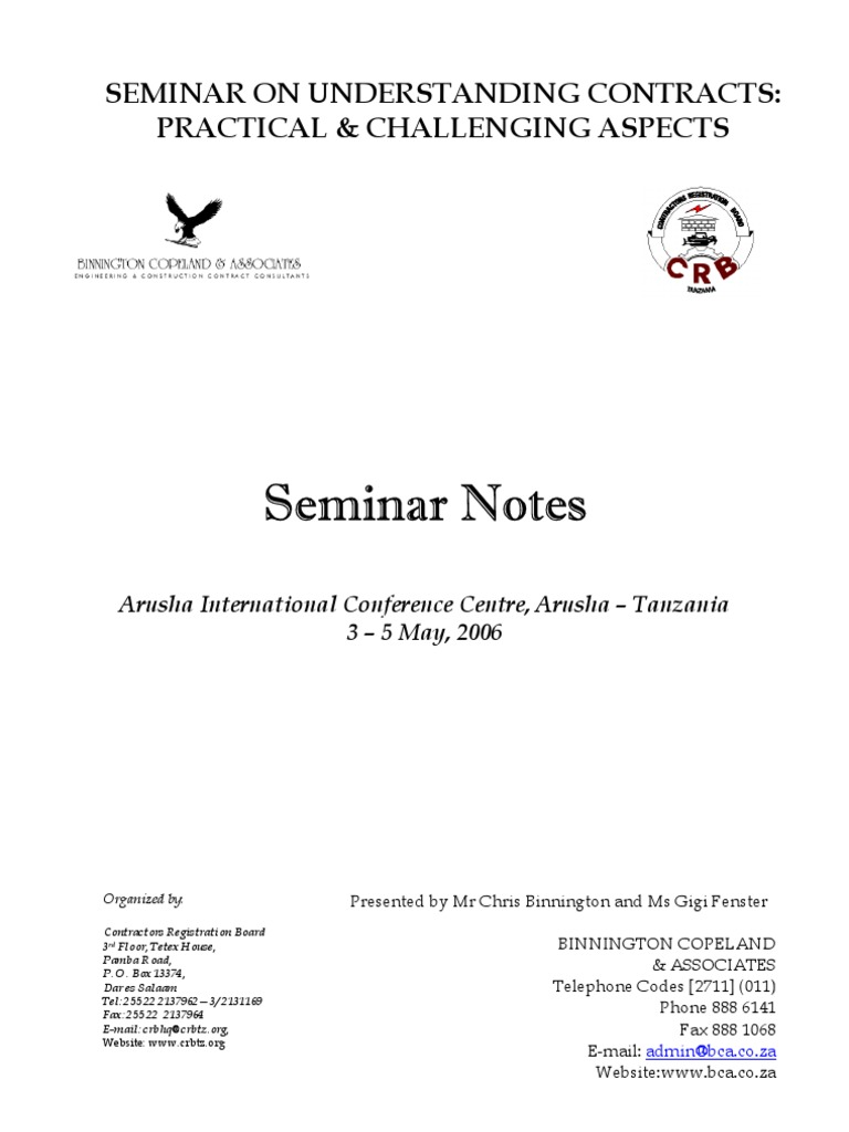 Understanding Contracts Seminar Notes | Mediation