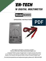 Multi Meter Manual