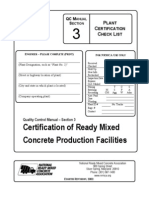 Plant Certification Checklist