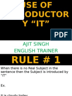 Use of Introductory It