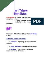 Learn Islam-FB course *Term 1* Tafseer SN