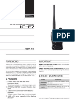 ICOM IC-E7 Manual En