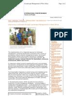 Improving Livelihoods Through Landscape Management in West Africa