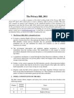 The Privacy Bill 2011