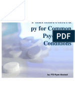 Pharmacotherapy for Common Psychiatric Conditions
