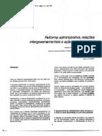 Reforma administrativa, relações intergovernamentais e ação administrativa