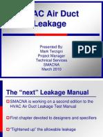 HVACAirDuctLeakageMarch2010presentation