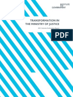 Transformation in the Ministry of Justice 2011
