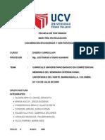 Curriculo Universitario Por Competencias Ucv
