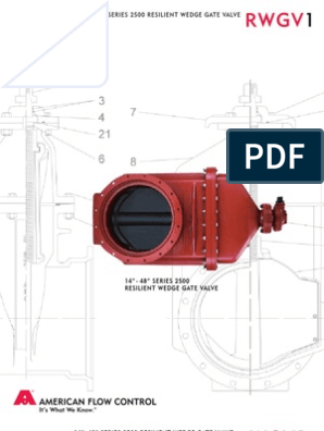 PIPING - VALVES - American Flow Control ( Gate Valves ) ( 8