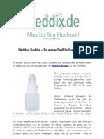 Wedding-Bubbles ein wahrer Spass fuer Ihre Hochzeit