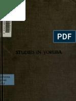 Language Studies in Yoruba